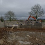 Getting started - blockwork for new contemporary dwelling, Portadown