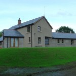 Intersecting blocks of contemporary farmhouse, Drumnasoo, Portadown