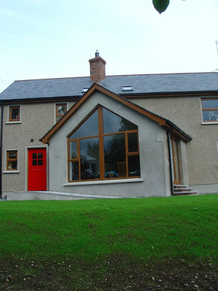 Rear view of contemporary farmhouse, Portadown