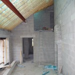 Double height family room will be the heart of the house
