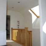 Bright, welcoming circulation space in attic conversion