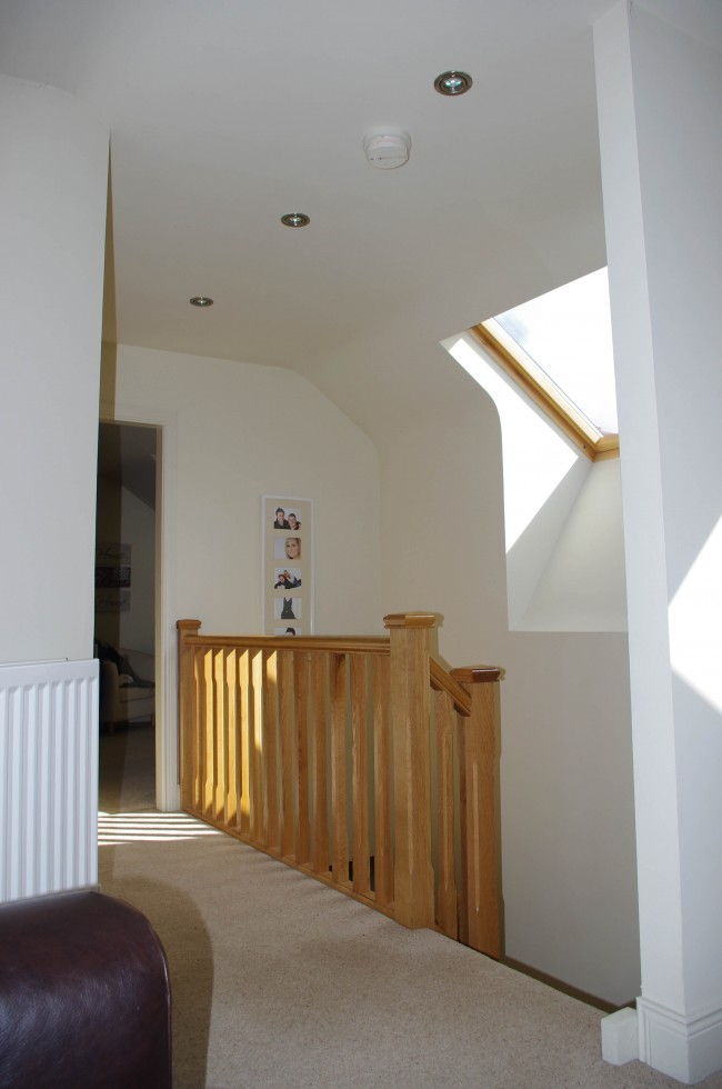 Bright Welcoming Circulation Space In Attic Conversion