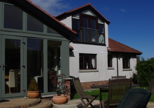 Sun room and new bedroom with feature window, Dundonald, Belfast
