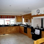 Traditional farmhouse kitchen with Aga stove, Dromore, County Down