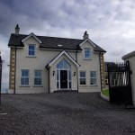 View from road, new traditional farmhouse, Dromore, County Down