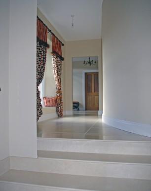 Light, bright, open hallway