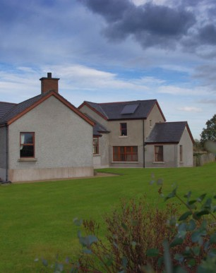 Solar panels on extension to dwelling, Northern Ireland
