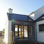 Donegal stonework to sun room modern dwelling Northern Ireland