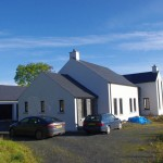 View approaching contemporary dwelling, County Down.