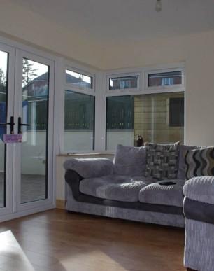 corner windows, extension, northern ireland