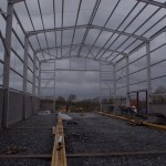 Internal view of factory extension, Craigavon