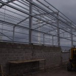 Portal frame under construction