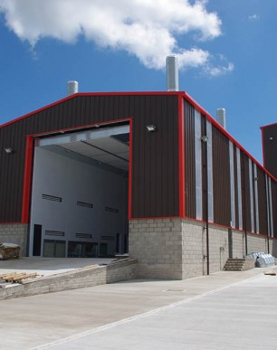 Factory extension almost complete.